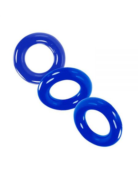 Oxballs Willy Rings: Cockring 3er-Set, police blue