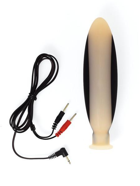 Elektro-Sex: Silikondildo (groß), bipolar