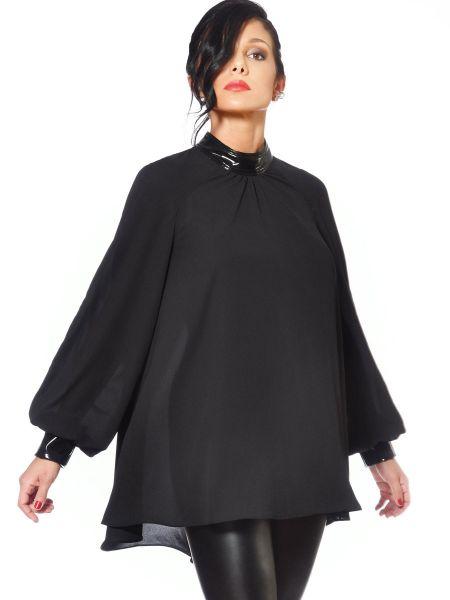 Patrice Catanzaro Emilia: Chiffon-Bluse, schwarz