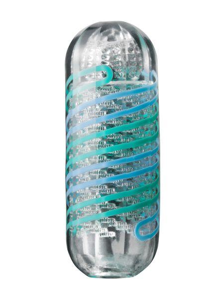 Tenga Spinner Pixel Cool: Masturbator, transparent/türkis