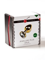 Dolce Piccante Jewellery Small: Edelstahl-Analplug, gold/klar
