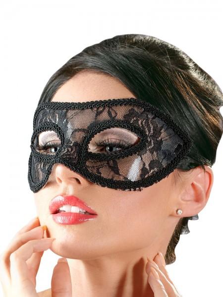 Spitzen-Augenmaske, schwarz