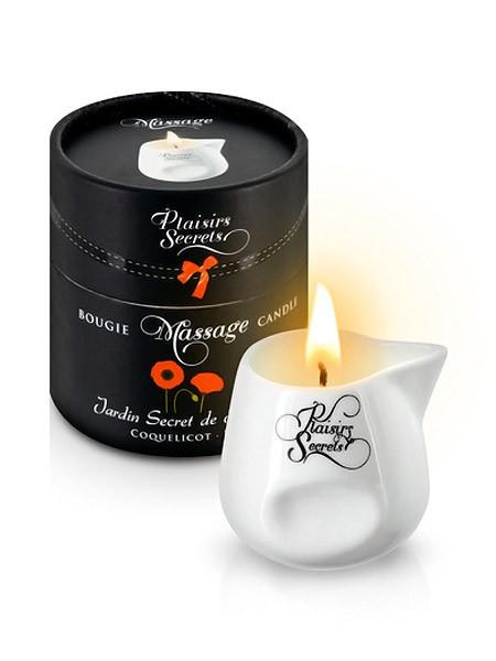 Plaisirs Secrets: Massagekerze Poppy (80ml)