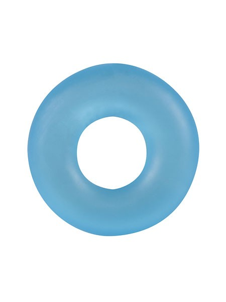 Stretchy Cockring Frosted: Penisring, blau