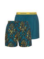 Bruno Banani Outlook: Boxershort 2er Pack, lorbeer/gold print-lorbeer