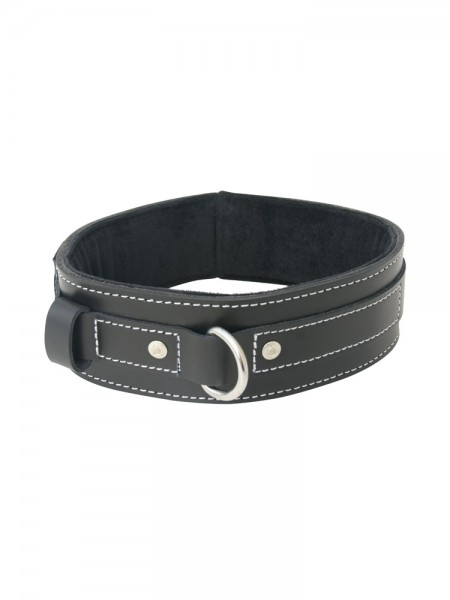 Sportsheets Edge Lined Leather Collar: Leder-Halsfessel, schwarz