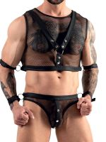 Softbondage-Harness Set, schwarz