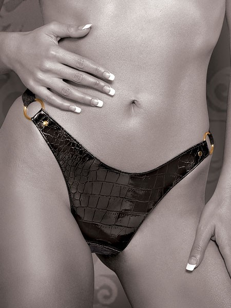 Fetish Fantasy Gold Vibrating Panty: Vibro-String, onesize