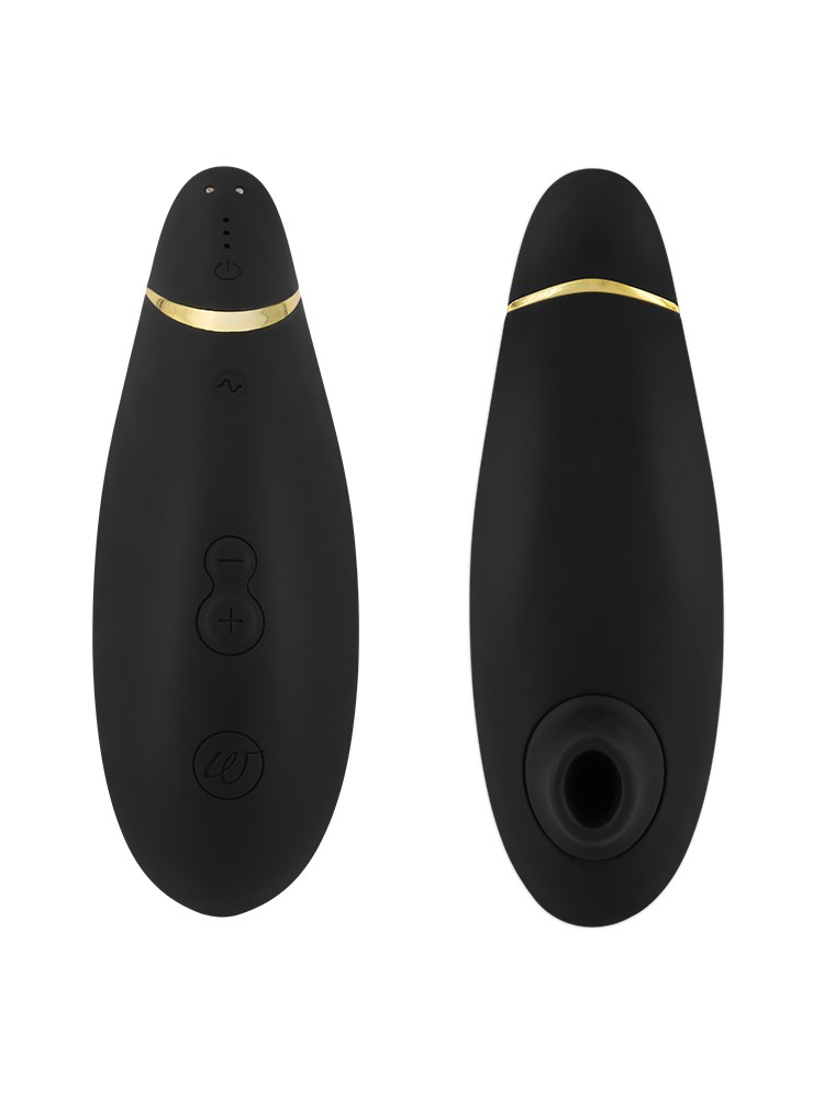 Womanizer Premium: Klitorisstimulator, schwarz/gold