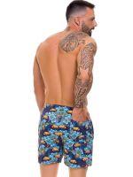 JOR Tropical: Badeshort, blau