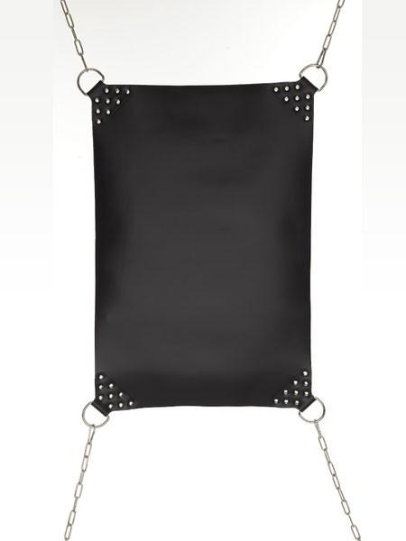 Leder Hängematte schwarz, 50x75cm