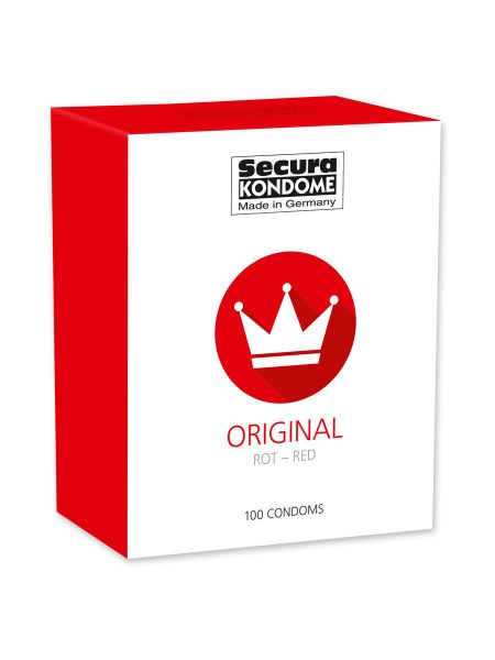Secura Original Red: Kondome, 100er Pack rot