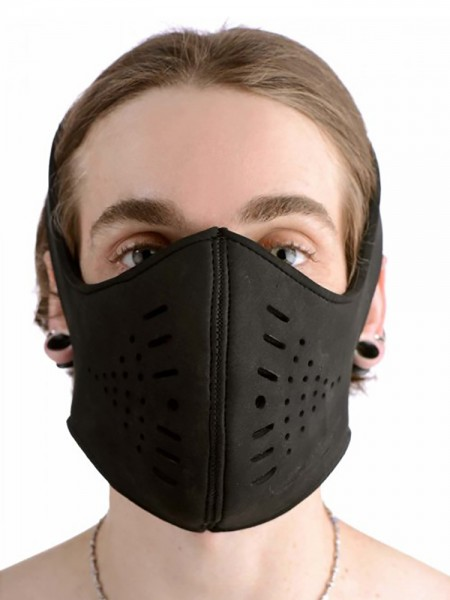 Master Series Neoprene Snap On Face Mask: Kopfmaske, schwarz