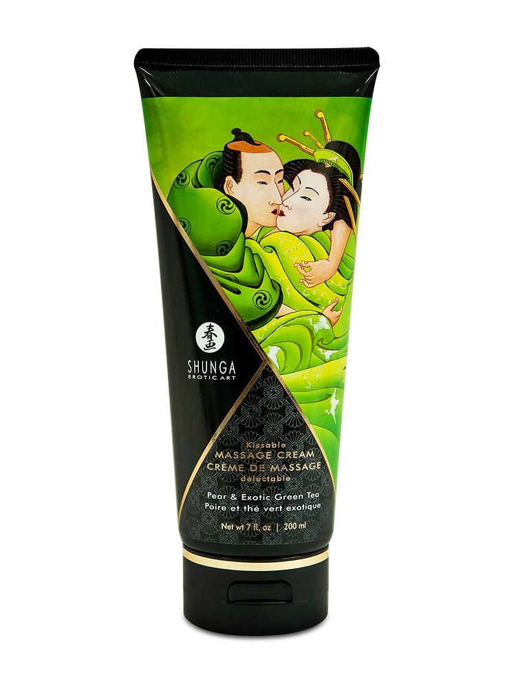 Shunga Kissable Massage Cream Pear & Exotic Green Tea (200ml)