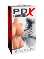 PDX Plus+ Perfect 10 Torso Ligh: Masturbator, hell-hautfarben