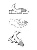 Simplicity Eliott: Vibrator Extension Set, schwarz
