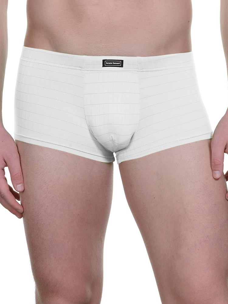 Bruno Banani Check Line: Hip Short, weiß