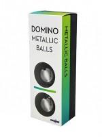 Domino Metallic Balls: Liebeskugeln, dark silver