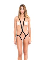 Happy Lola Body Straps: Ouvert-Riemen-Body, schwarz