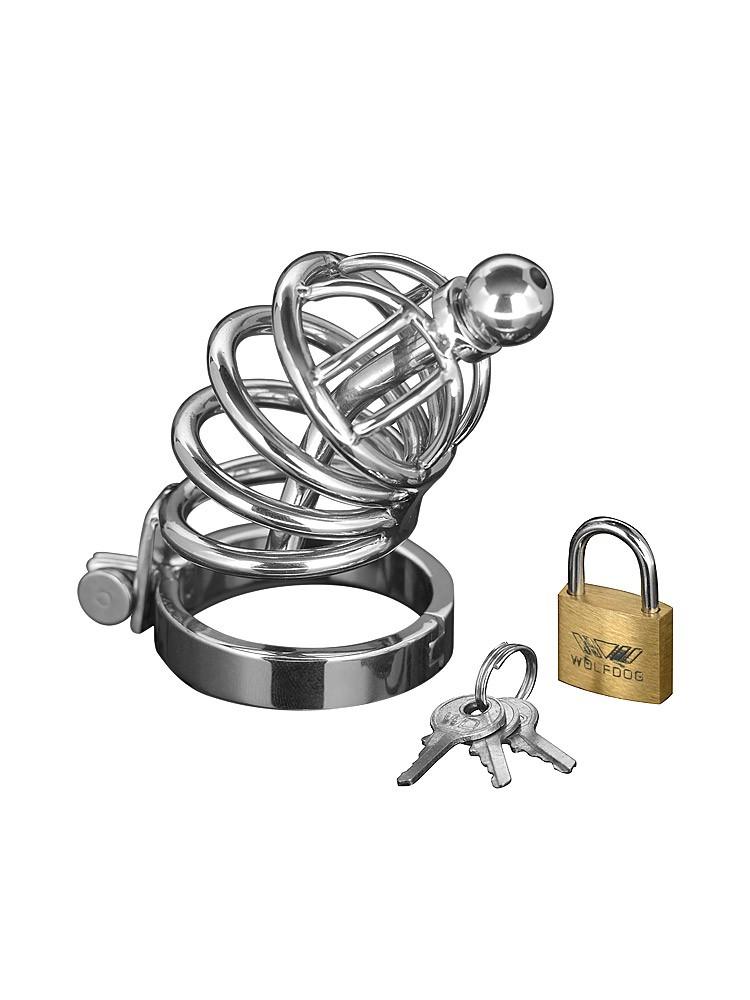 Master Series Asylum 4 Ring Chasity Cage: Edelstahl-Peniskäfig