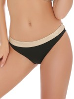 Anabel Arto: Bikini Slip, schwarz/gold
