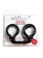 Silky Soft Double Rope Wrist Cuffs: Handfesseln, schwarz