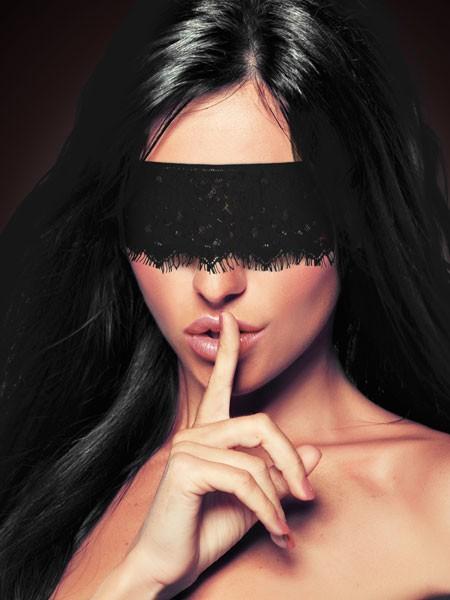 Ouch! Spitzen-Augenmaske, schwarz