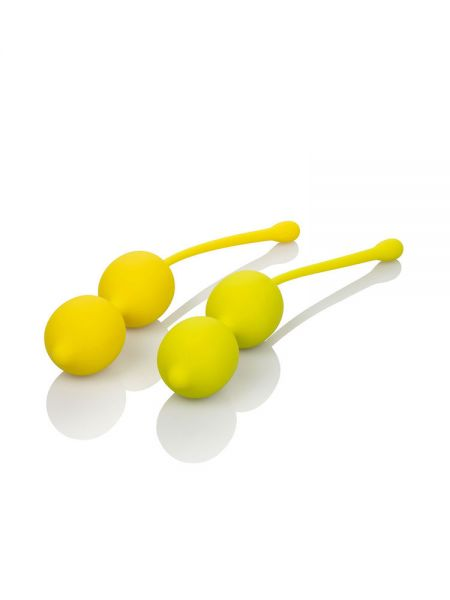 Kegel Training Set: Doppel-Liebeskugel-Set 2-teilig, limone