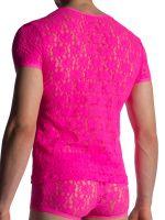MANSTORE M853: V-Neck-Shirt, hotpink