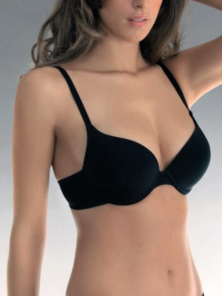 Sassa Shiny Micro: Flexipush Push-Up-BH, schwarz