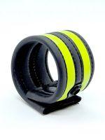 Neoprene Racer Ball Strap: Hodenring, schwarz/neon grün