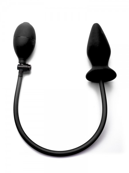 Ouch! Inflatable Silicone Plug: Pump-Plug, schwarz