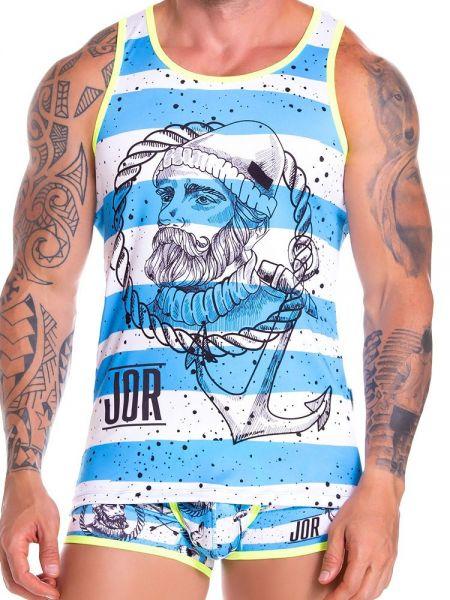 JOR Captain: Tanktop, blau/weiß