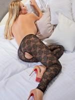 Ouvert-Leggings, schwarz