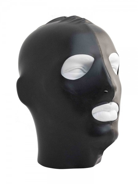Mister B Datex Hood Eyes and Mouth Open: Kopfmaske, schwarz