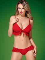 Obsessive 851: Weihnachtskostüm-Set, rot