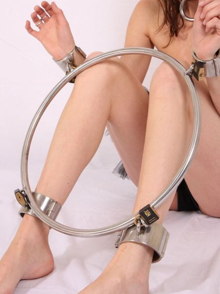 Black Label Stainless Steel Bondage Wheel: Edelstahl-Fesselrad