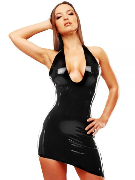 Latex-Minikleid: Lady Alexa, schwarz