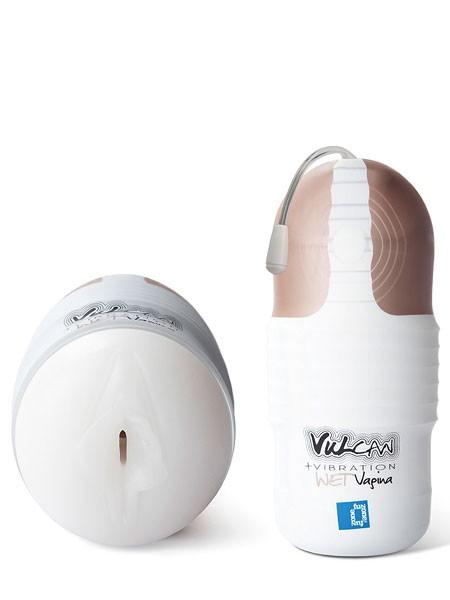 Vulcan Vibration Wet Vagina: Masturbator, weiß