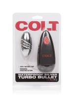 Colt Turbo Bullet: Vibro-Ei mit Fernbedienung, silber
