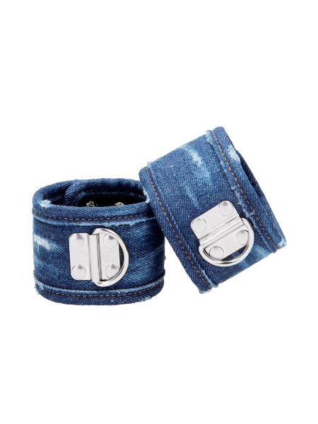 Ouch! Denim Ankle Cuffs: Fussfesseln, jeans-blau