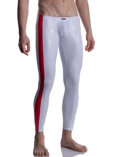 MANSTORE M2004: Bungee Leggings, weiß/rot