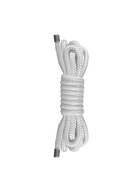 Ouch! Japanese Mini Rope: Bondageseil, weiß (1,5m)