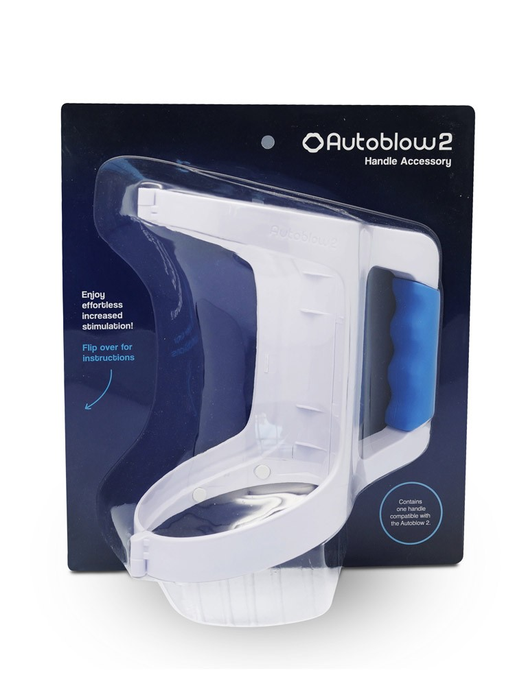 Easy Grip Handle: Griff für Autoblow 2 Masturbator, wei�/blau