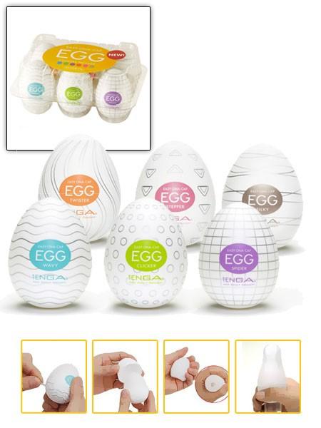 Tenga Ona Egg Variety 1: 6er-Pack Masturbatoren (sortiert)