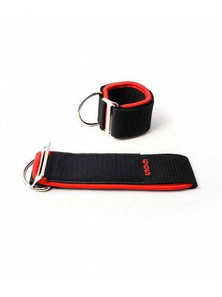 Neoprene Universal Restraints: Fesseln, schwarz/rot