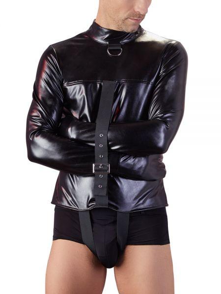 Kunstleder-Zwangsjacke, schwarz