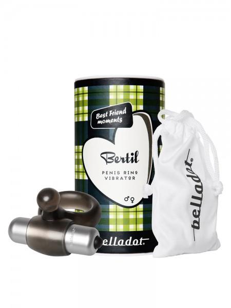 Belladot Bertil: Vibro-Penisring, schwarz