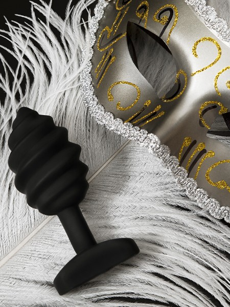 G-Plug Twist: Vibro-Analplug, schwarz
