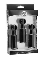 Master Series Fusion Triple Sucker: Nippel- und Klitorissauger, schwarz